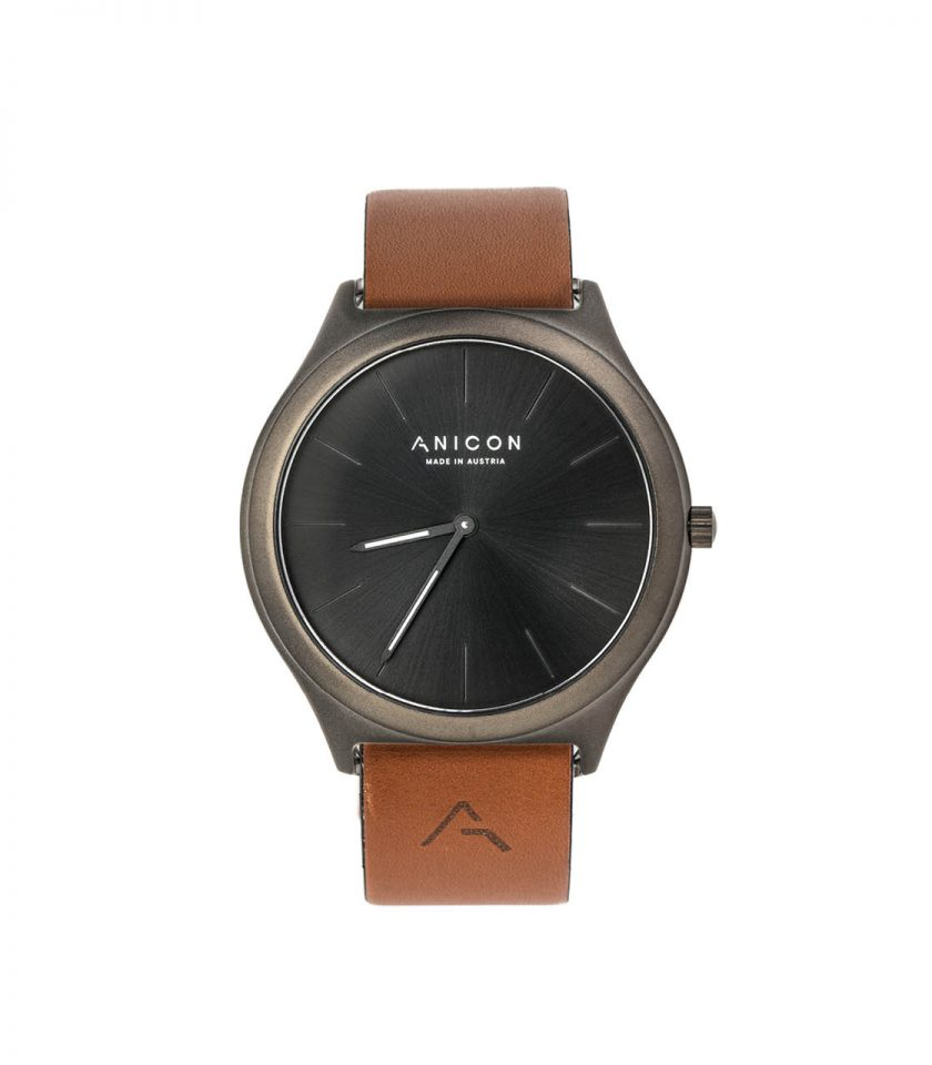 ANICON Idol Reversible Black brown vintage strap