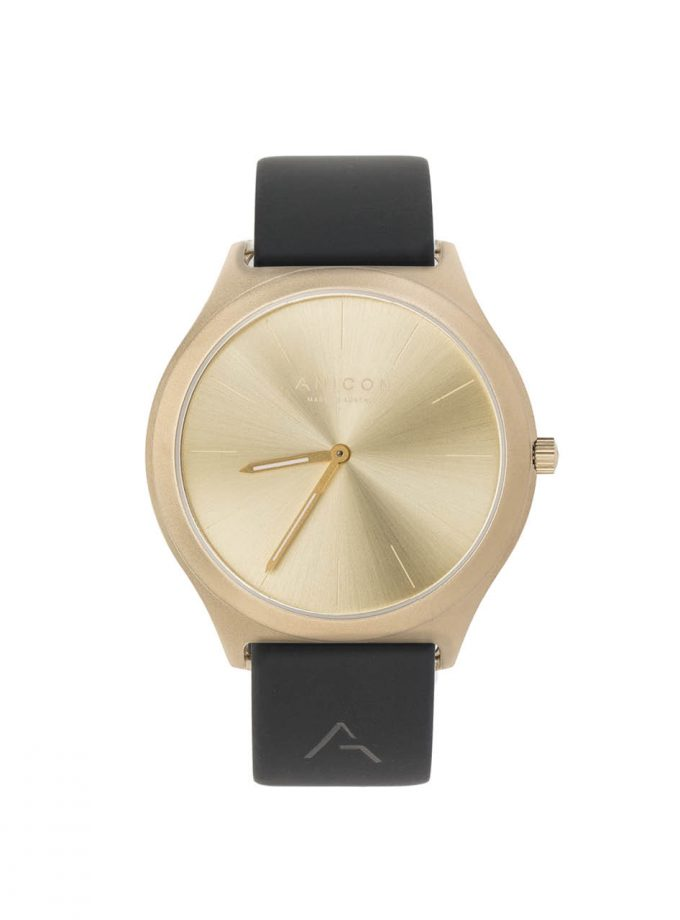 ANICON Idol Reversible Gold black strap